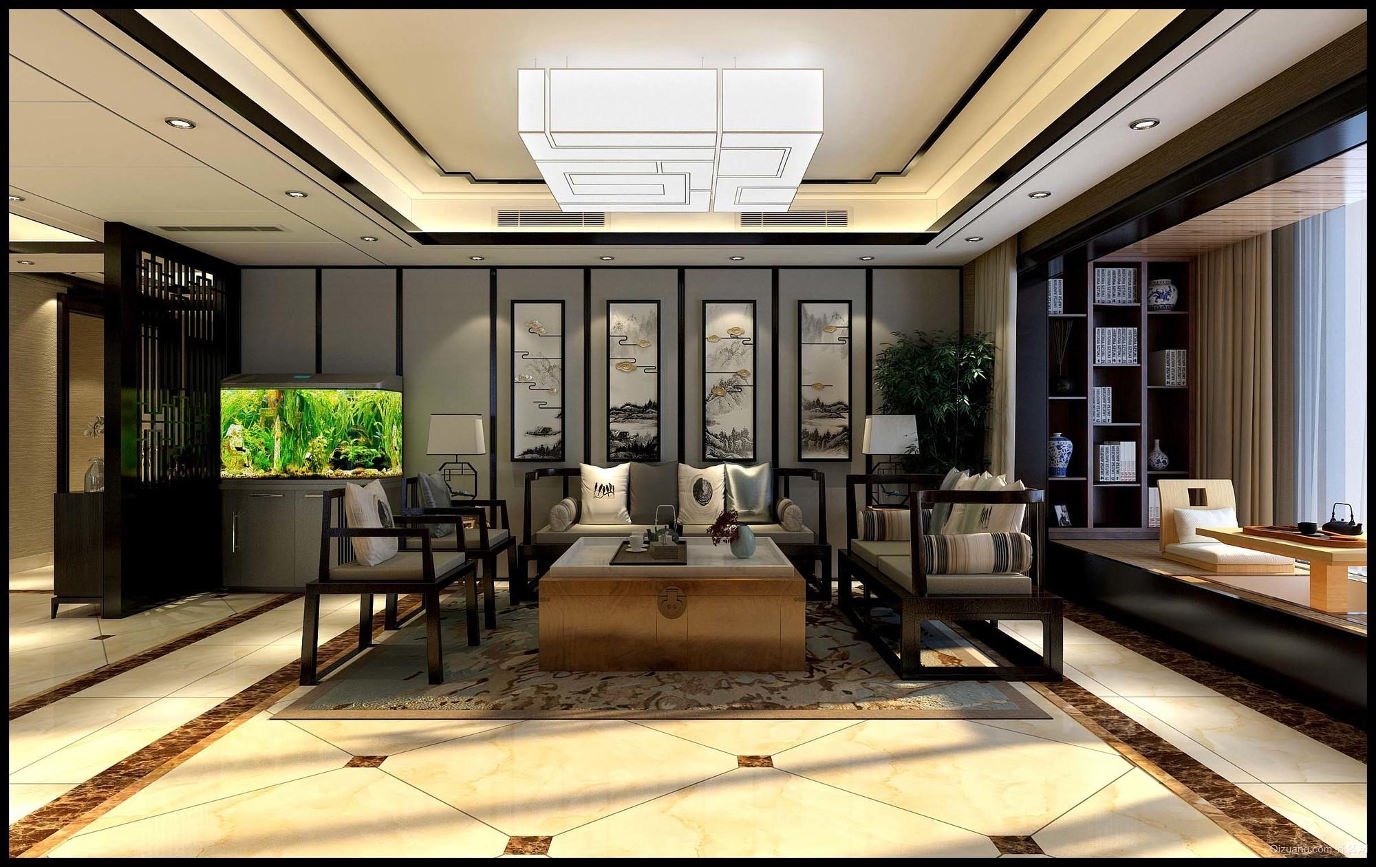 颐和庄园中式风格装修效果图实景图