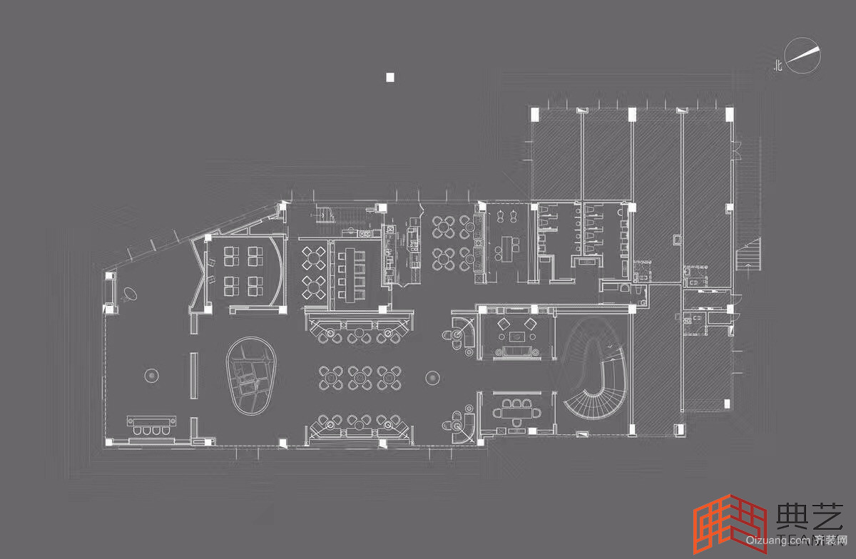广州天合销售中心现代简约装修效果图实景图