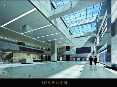 赣榆110大厅吊顶装修设计案例