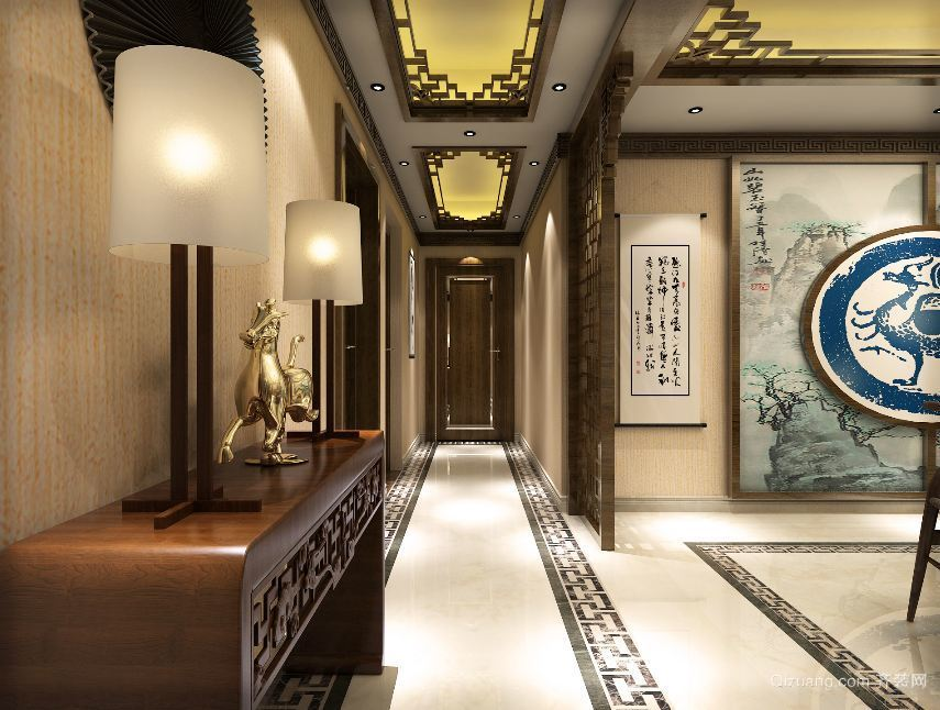 郎成大时代中式风格装修效果图实景图