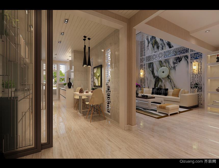 富苑华城中式风格装修效果图实景图