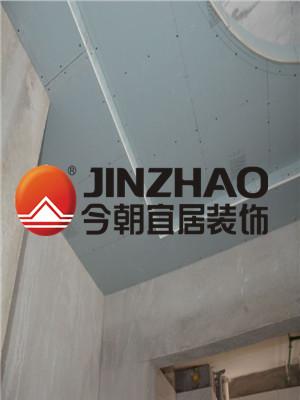 合肥(fei)融科城(cheng)兩(liang)室一廳(ting)-木工階段裝修設計案例