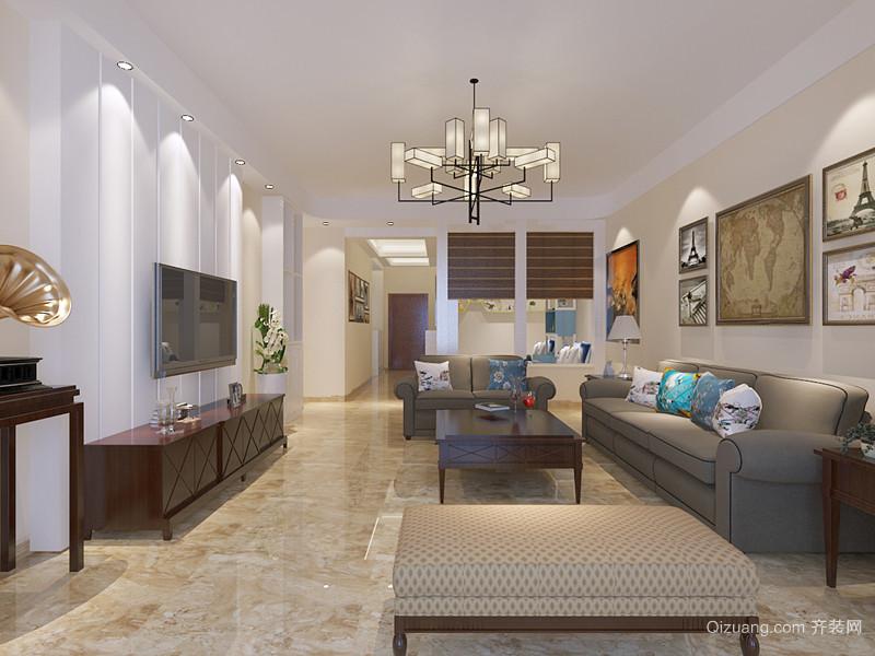 天健家园美式风格装修效果图实景图