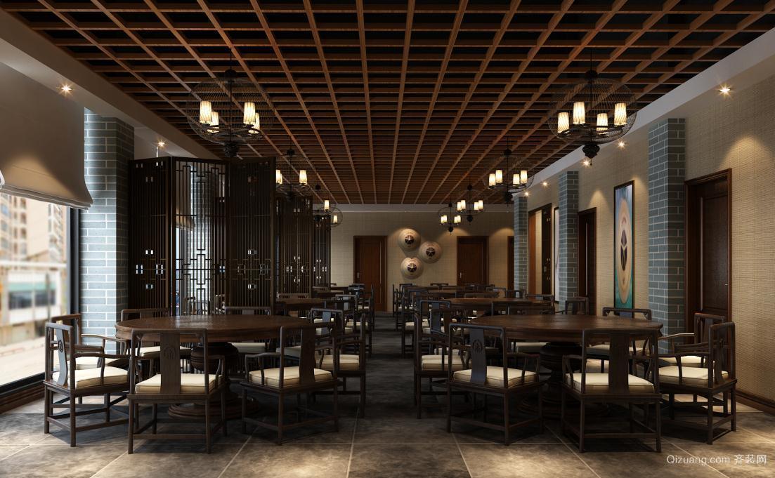 农家菜馆中式风格装修效果图实景图