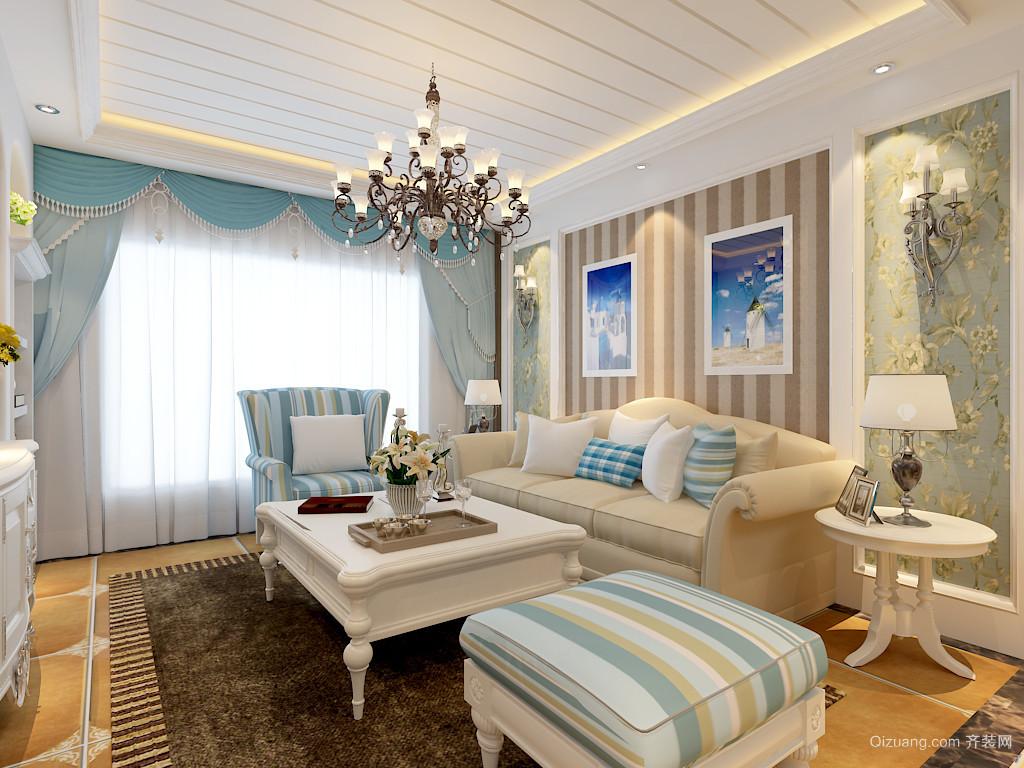保利海上罗兰地中海风格装修效果图实景图