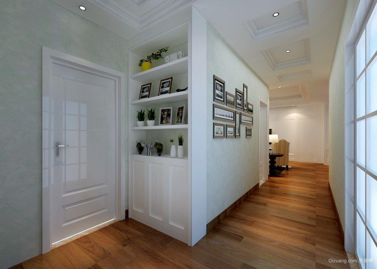 113平米普通家装现代简约图片装修走廊设计-广新中式装修大全设计效果图户型图片