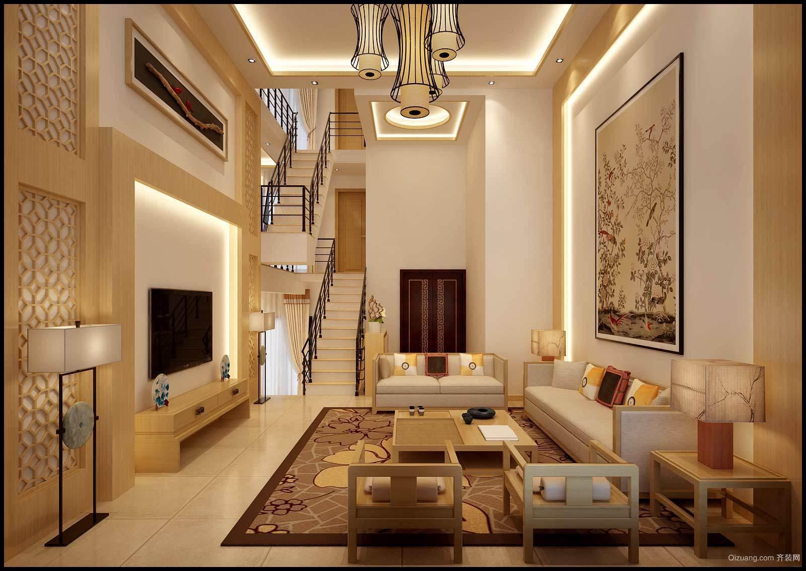 奥润馨海国际城中式风格装修效果图实景图