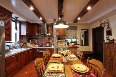 上饶70平方二居美式田园厨房餐厅装修效果装修设计案例