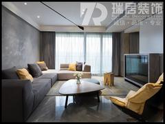 现代简约-熙龙湾133㎡现代风格装修案例效果图