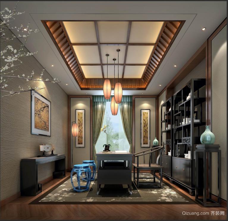 龙湖首开·天宸原著中式风格装修效果图实景图