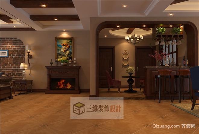 未来东岸华城美式风格装修效果图实景图