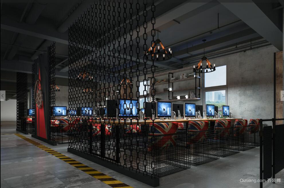 万达广场现代简约装修效果图实景图