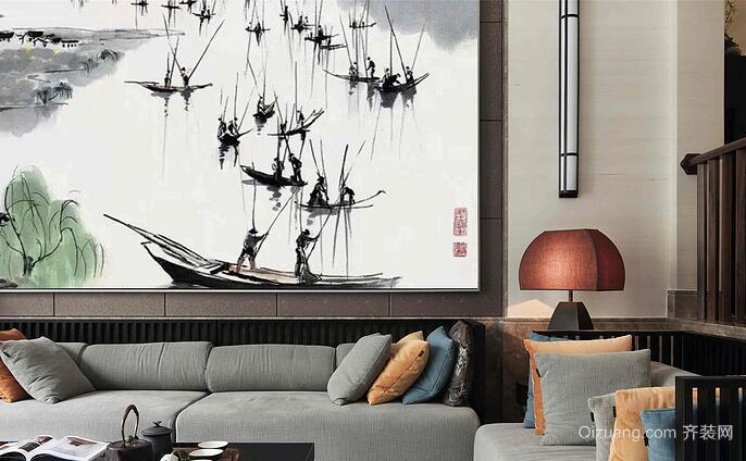 水印豪庭现代简约装修效果图实景图