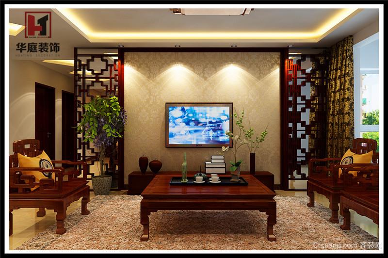 中建·高街国际中式风格装修效果图实景图