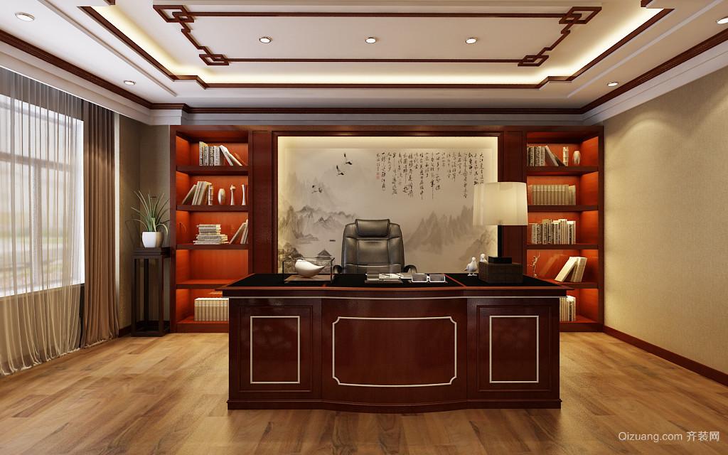 办公室装修中式风格装修效果图实景图
