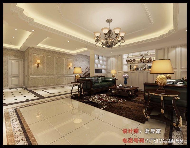 金港·名人府美式风格装修效果图实景图