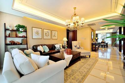 杭州现代大客厅装修设计案例