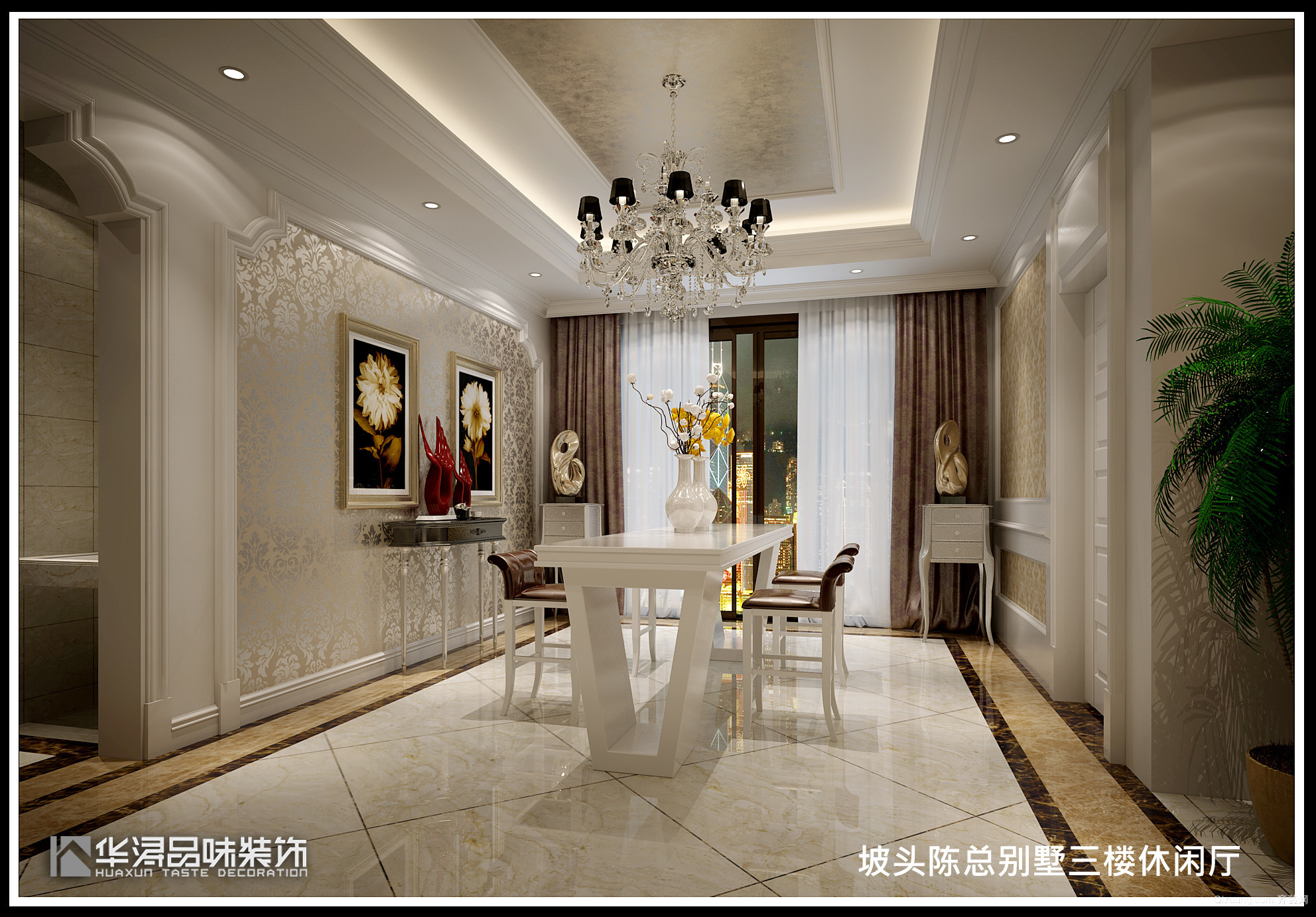自建别墅欧式风格装修效果图实景图