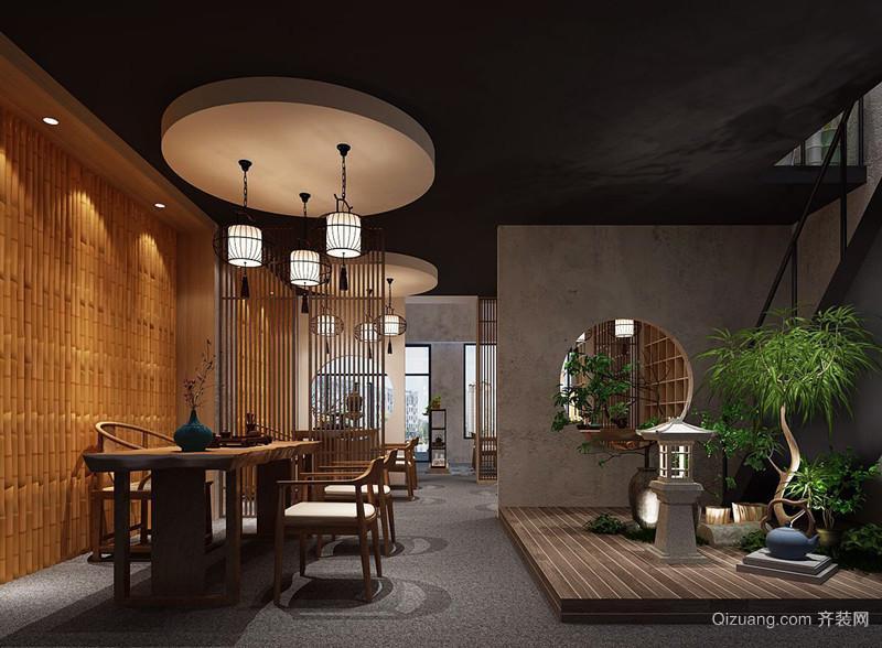 茶叶铺中式风格装修效果图实景图