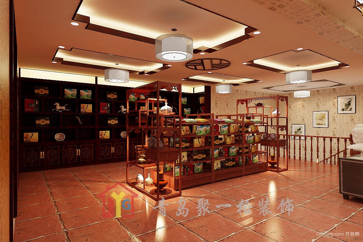 茶叶店中式风格装修效果图实景图