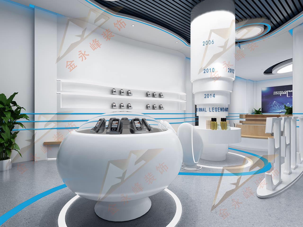 山东路110号电信体验馆现代简约装修效果图实景图