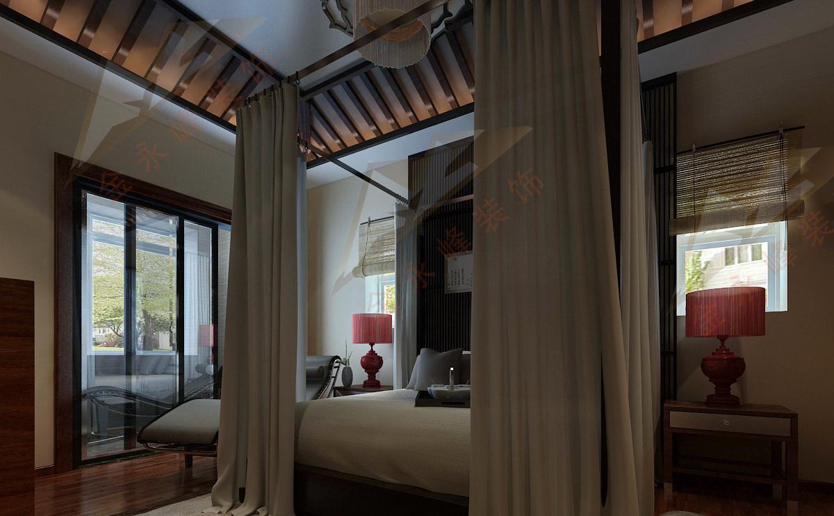 龙湖原山别墅中式风格装修效果图实景图