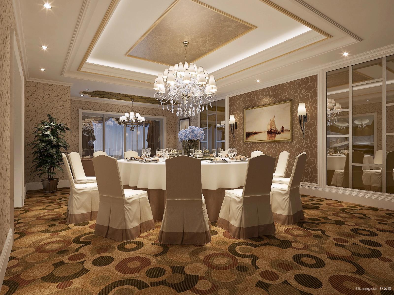 凯富酒店欧式风格装修效果图实景图