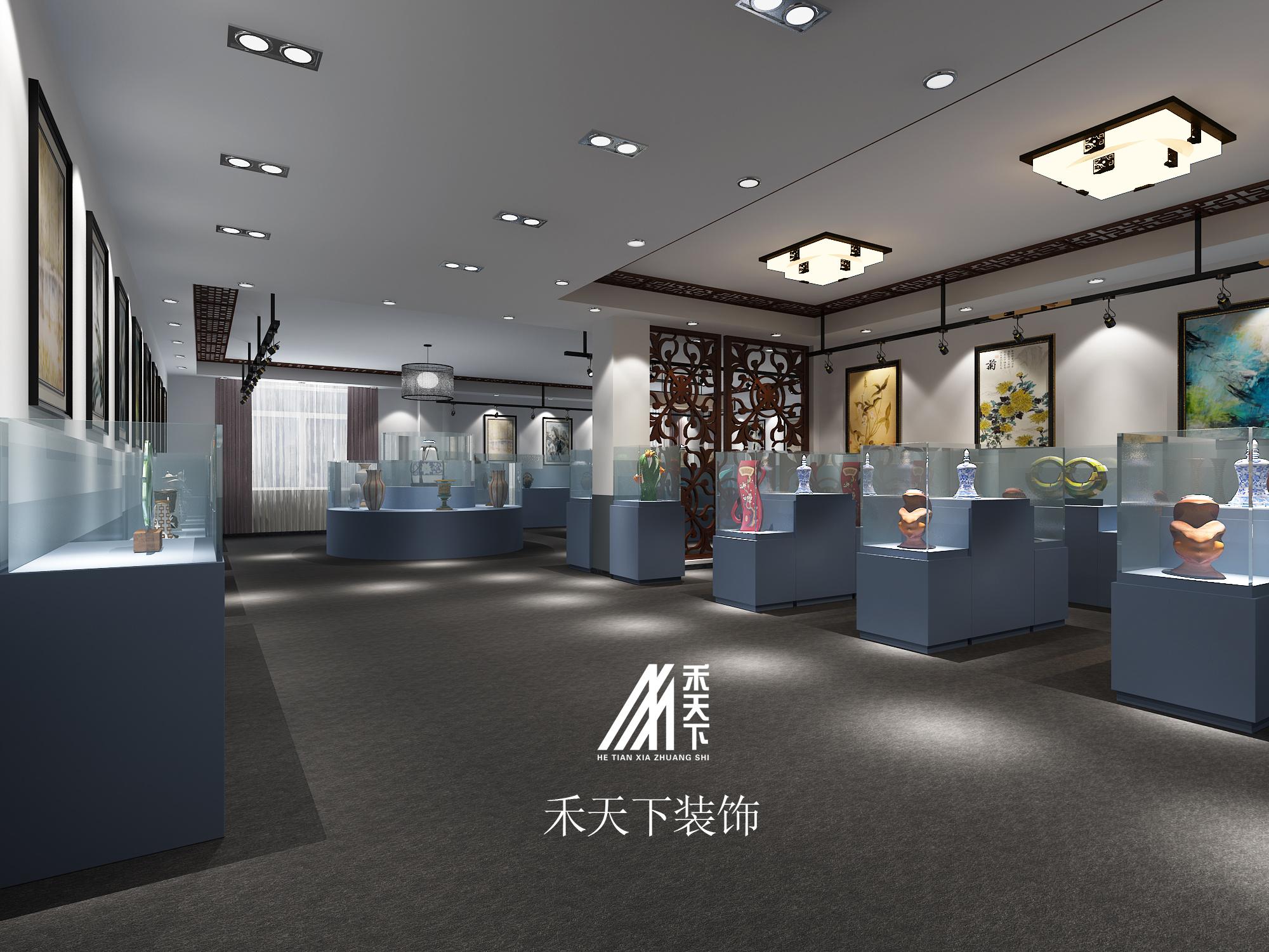 陶瓷展厅 现代简约装修效果图实景图