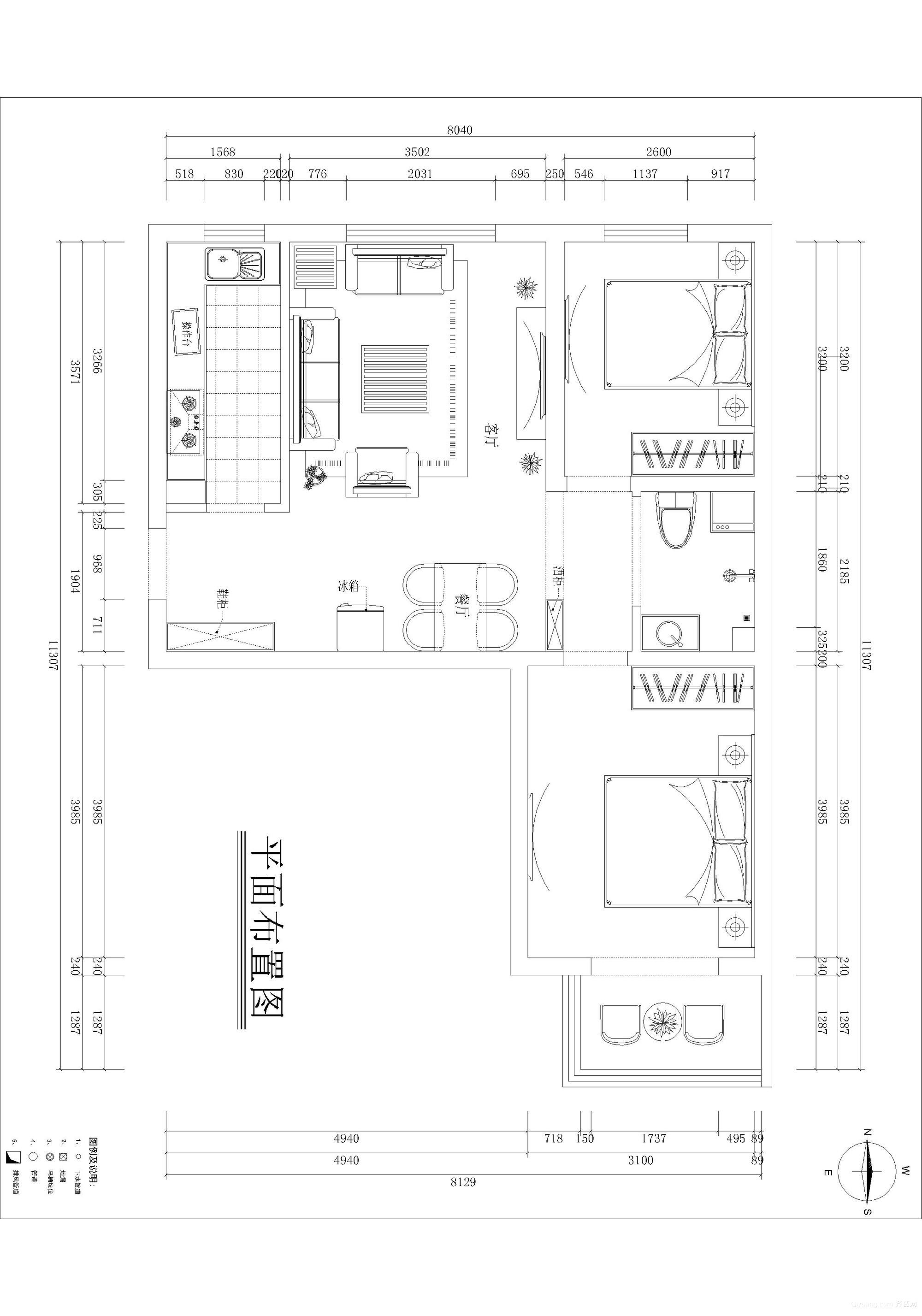泰福苑2区欧式风格装修效果图实景图