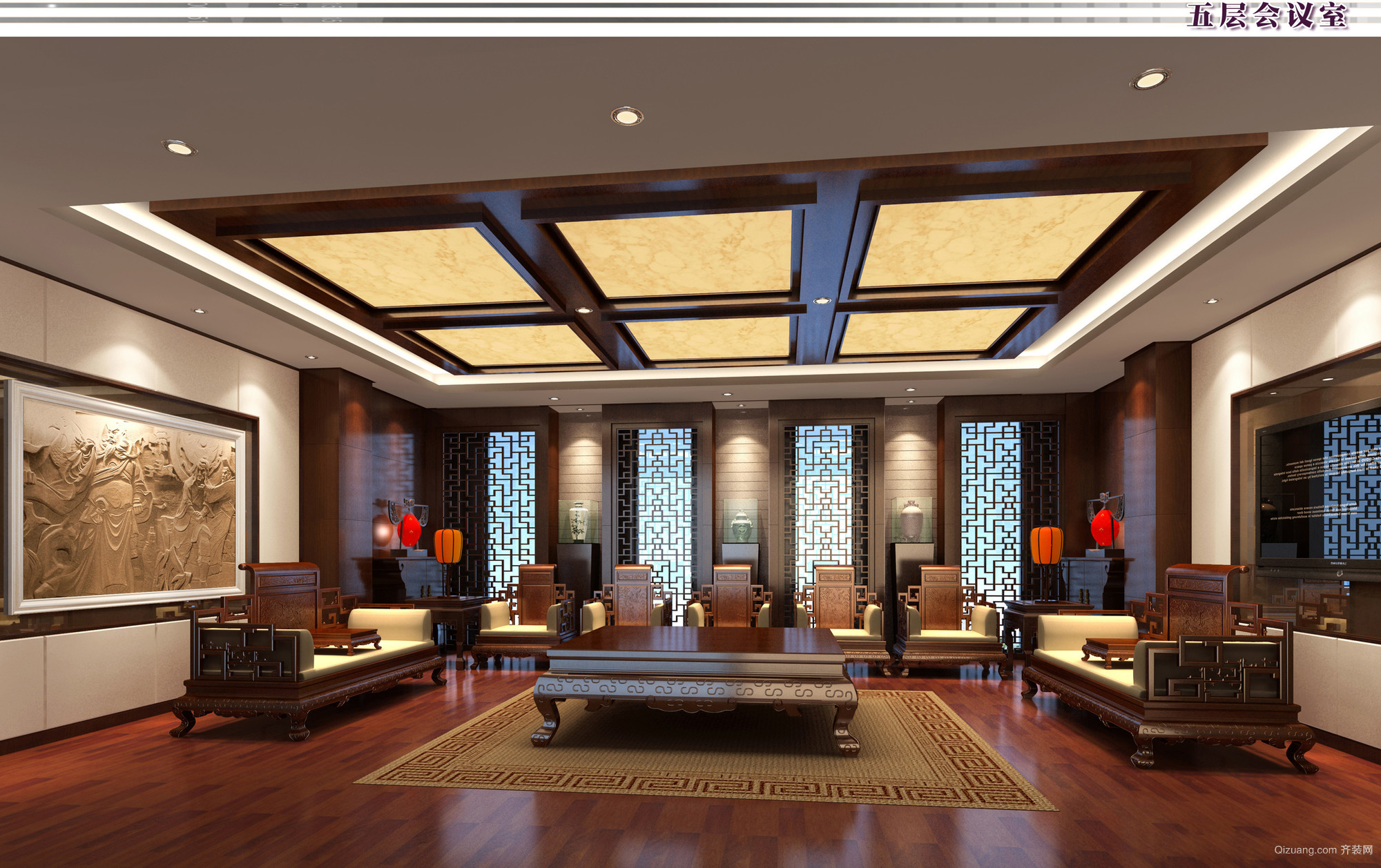 苏州办公楼混搭风格装修效果图实景图