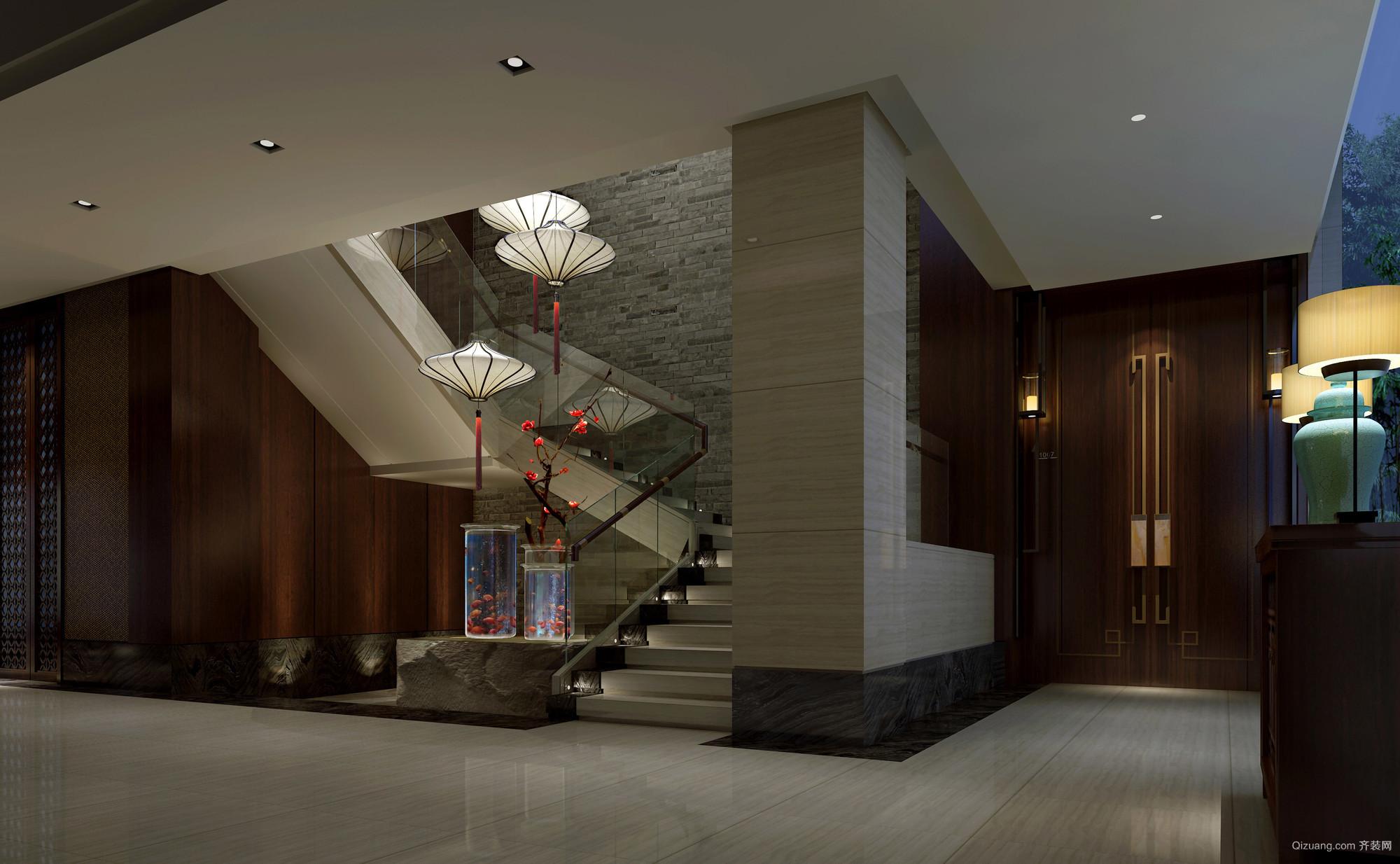 郑州苏园一号餐厅古典风格装修效果图实景图