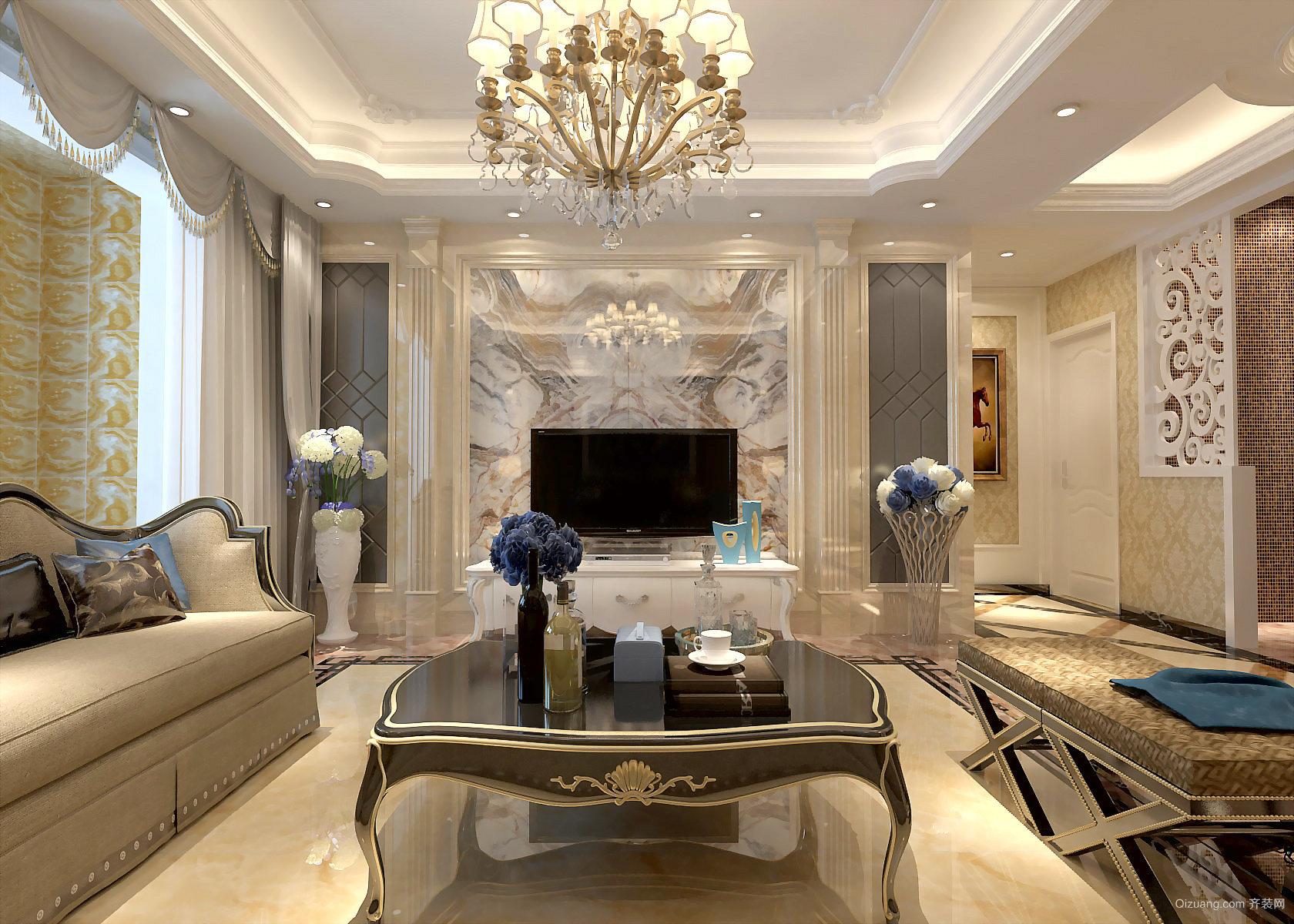华中国宅华园欧式风格装修效果图实景图