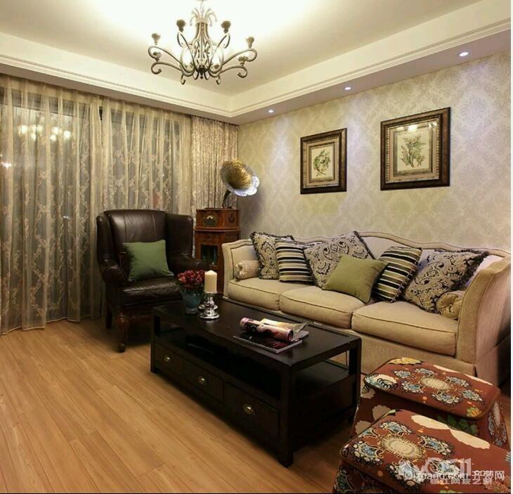 中南御锦城美式风格装修效果图实景图