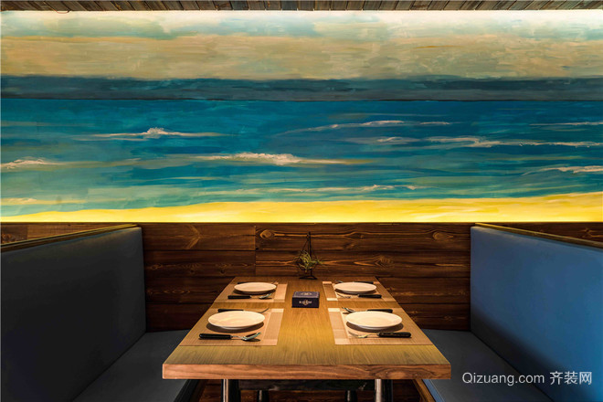 海鲜店混搭风格装修效果图实景图