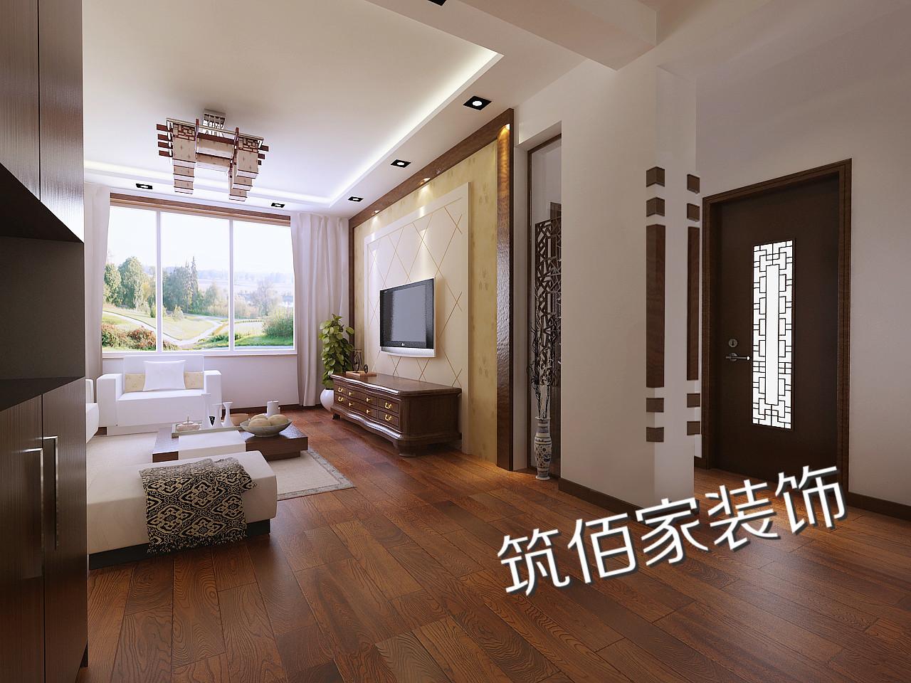 青岛中南世纪城中式风格装修效果图实景图