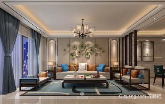 公元尚城中式风格装修效果图实景图