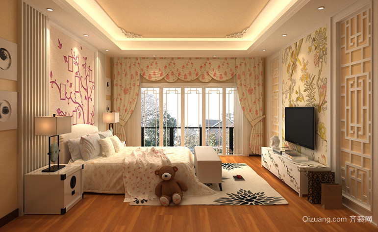 滨湖名苑中式风格装修效果图实景图