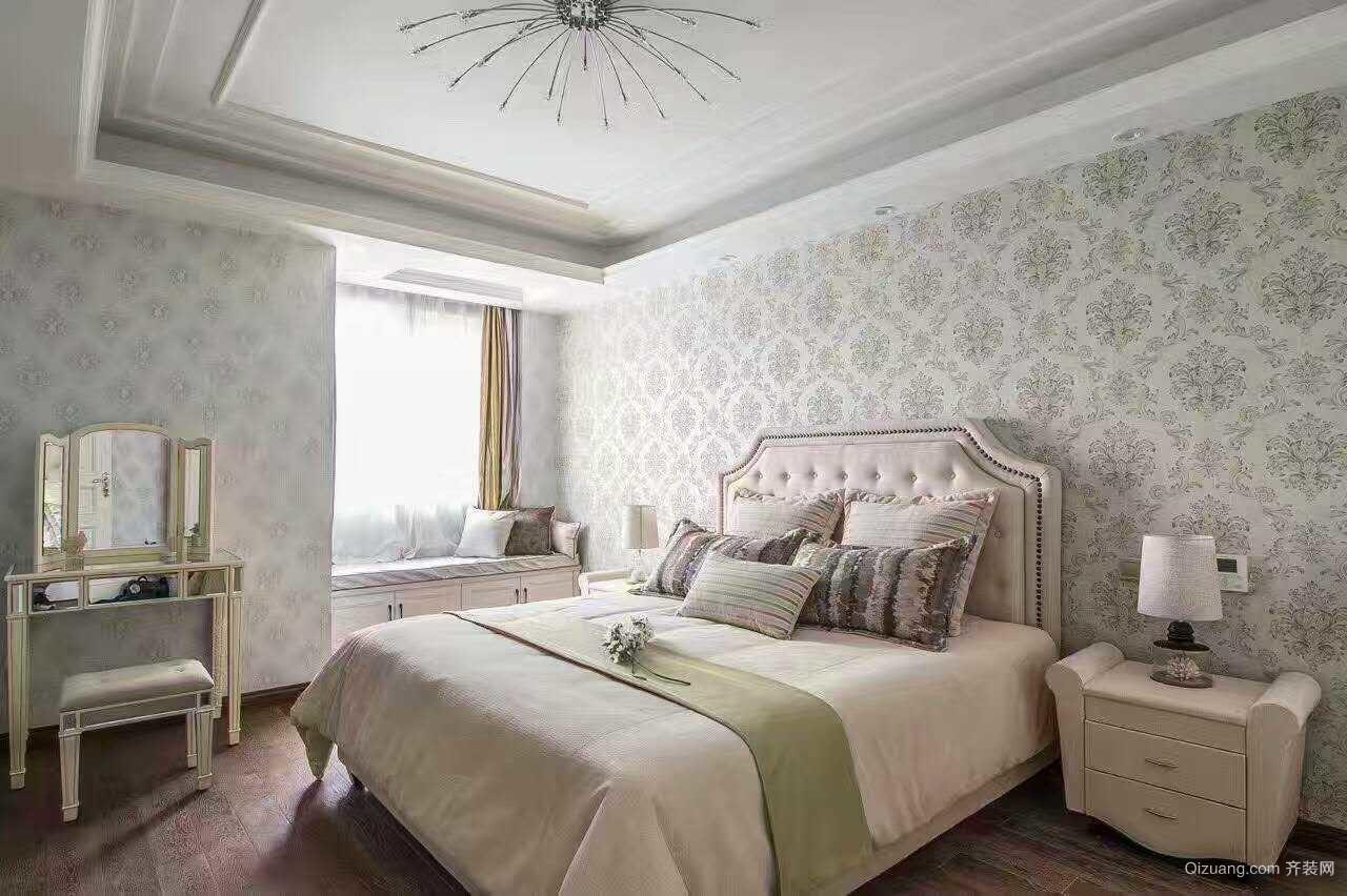 河西安置房美式风格装修效果图实景图