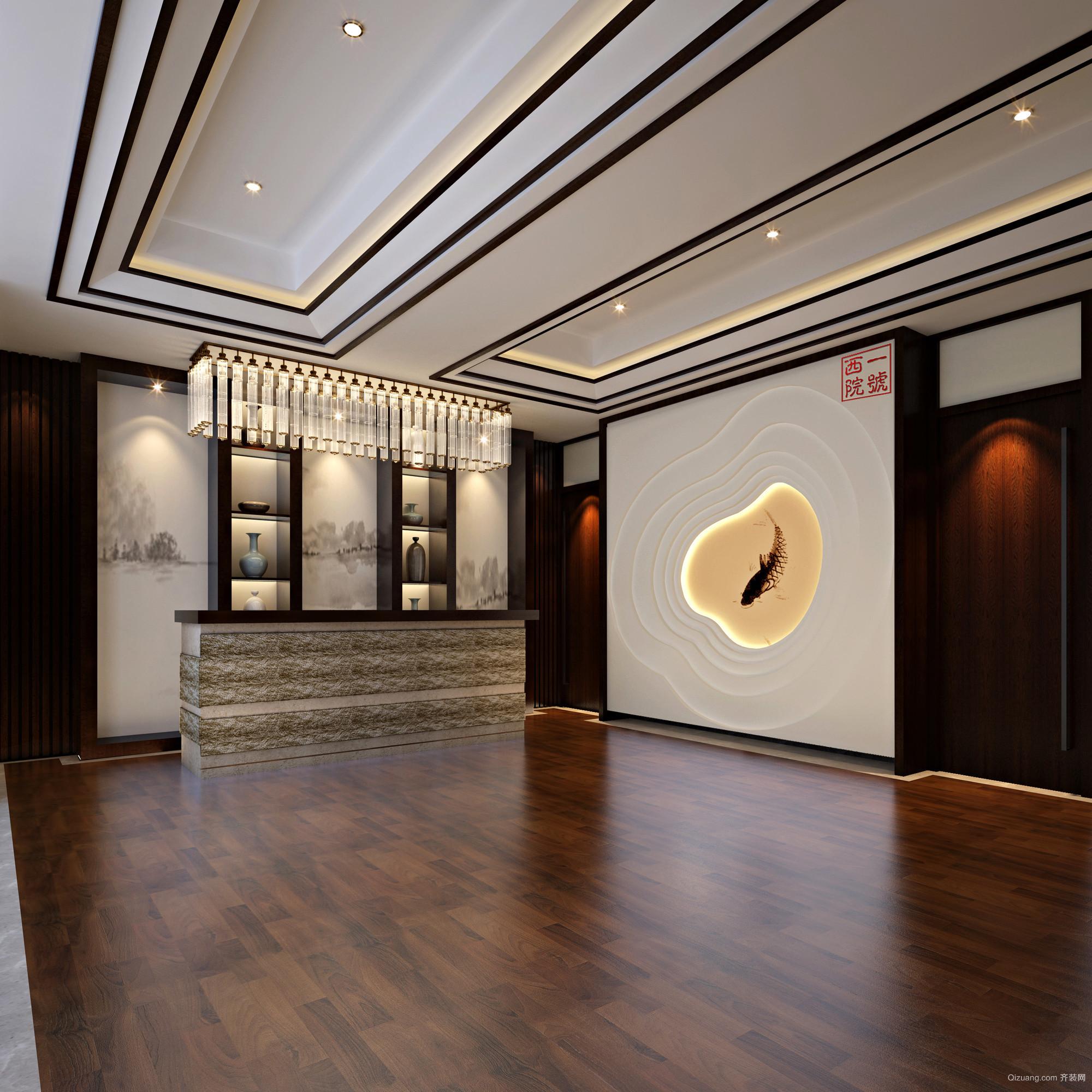 西园餐厅中式风格装修效果图实景图