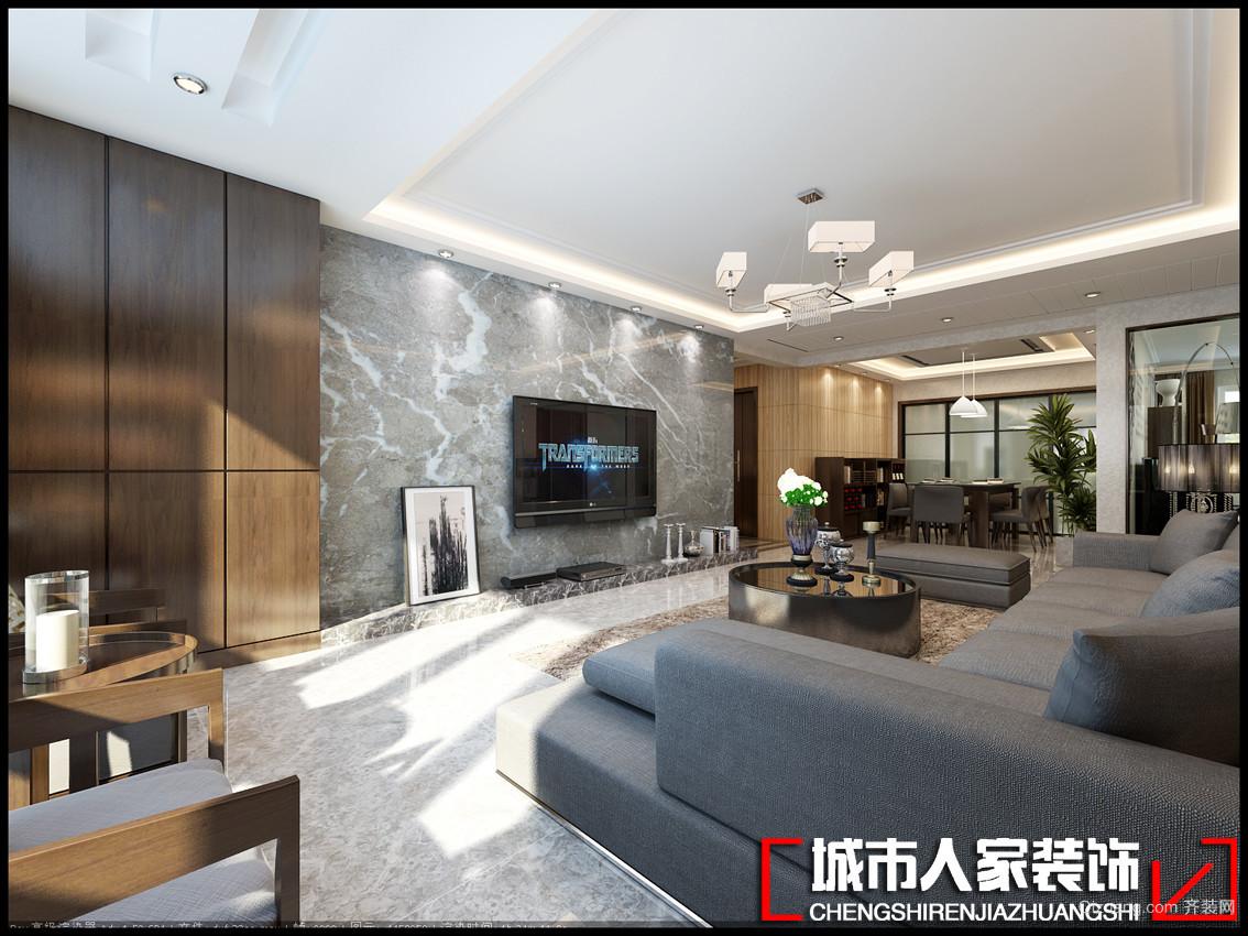中海凯旋门·御园现代简约装修效果图实景图