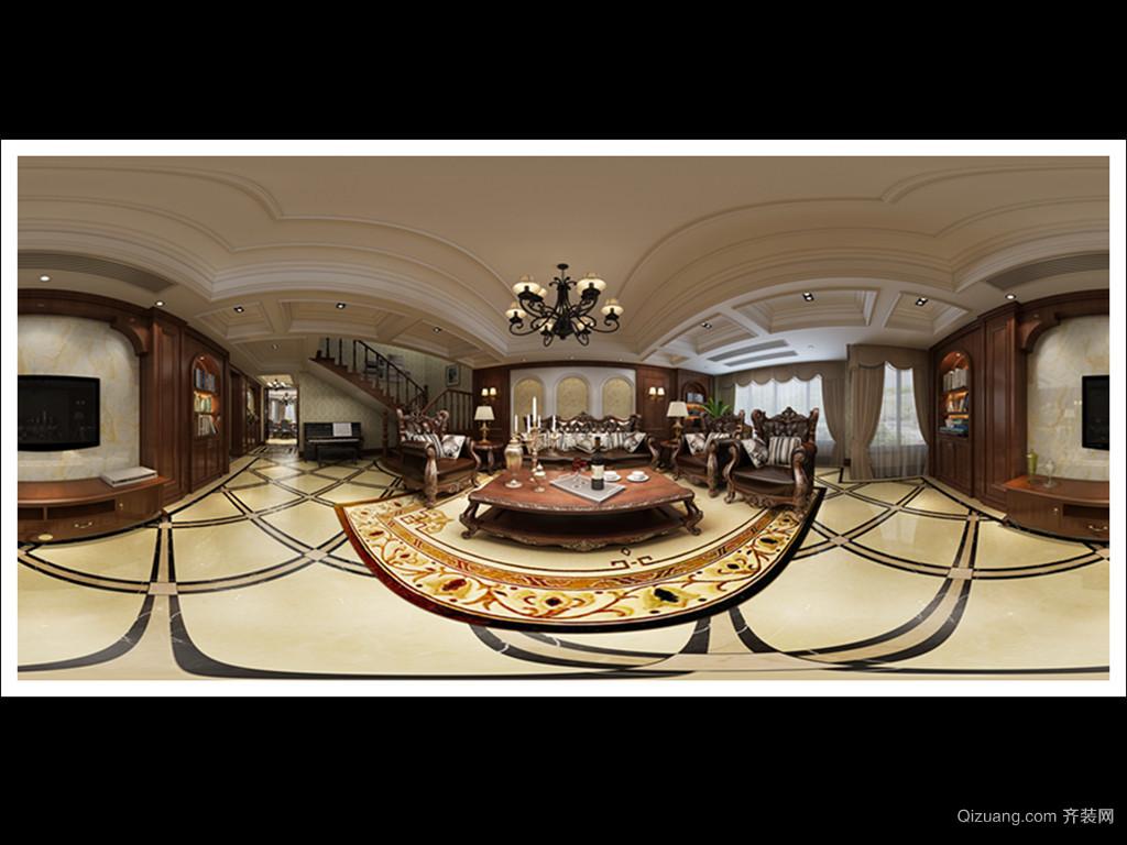 中南锦园5-302美式风格装修效果图实景图