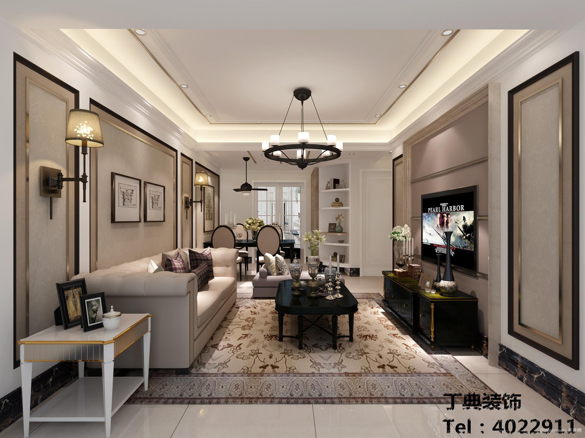 明珠城现代简约装修效果图实景图