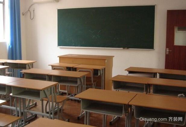 学校现代简约装修效果图实景图
