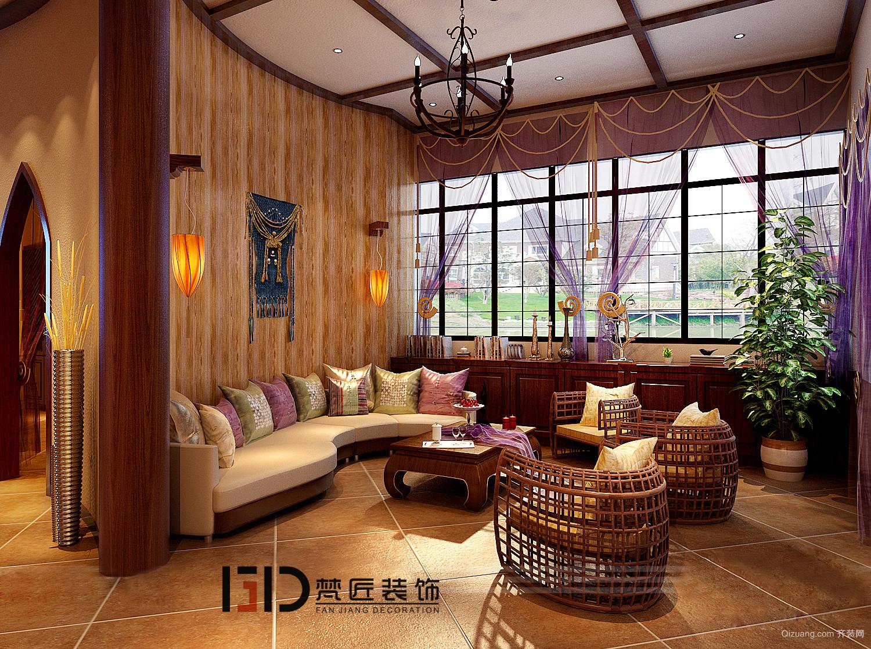天湖郦都 中式风格装修效果图实景图