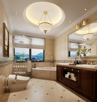 上饶美式风格别墅户型装修设计案例
