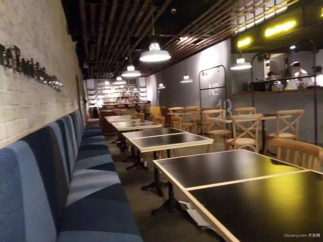 深圳杰伦餐厅现代简约装修效果图实景图