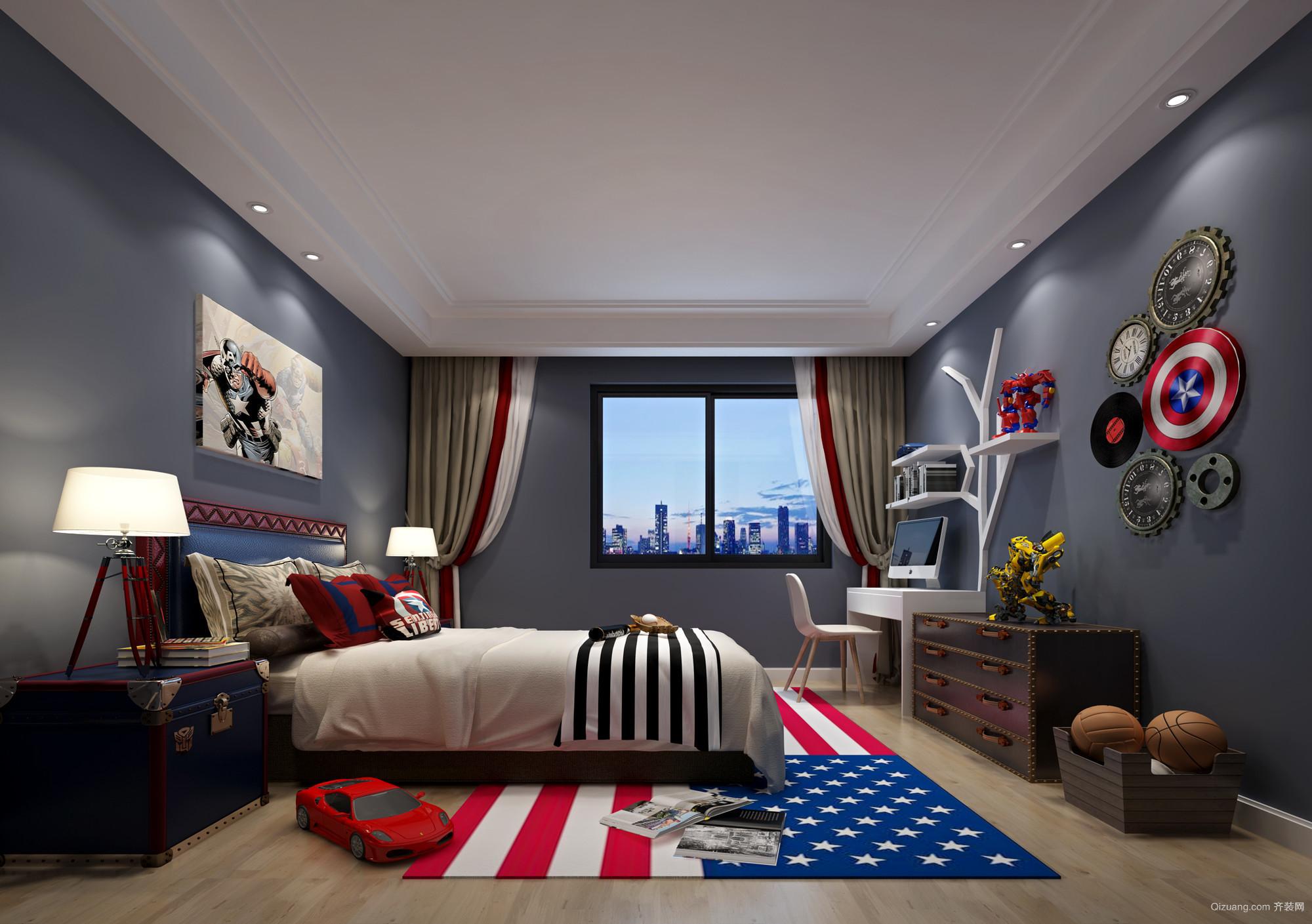 华英城B区42幢130号中式风格装修效果图实景图