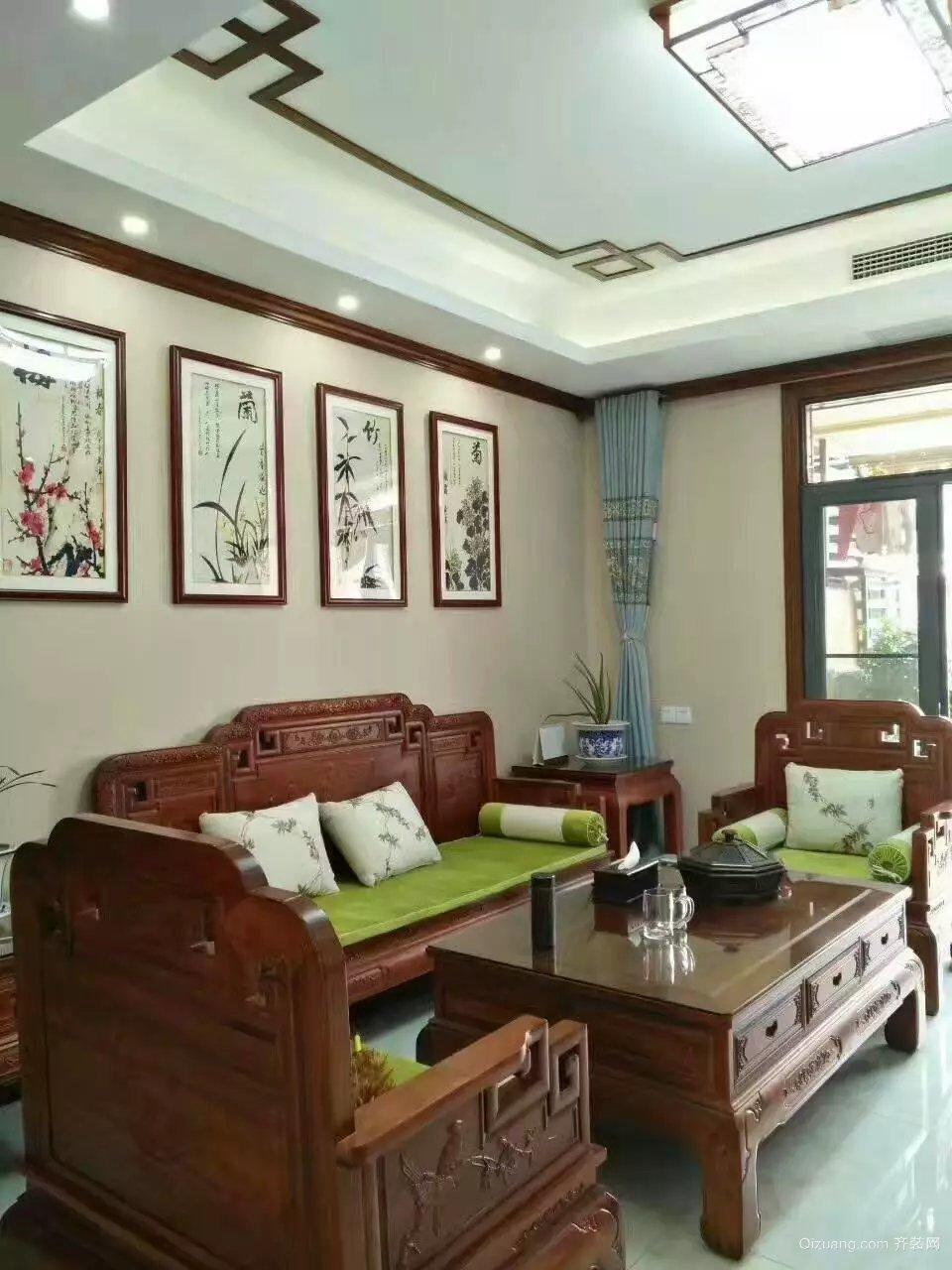 嘉悦江庭中式风格装修效果图实景图