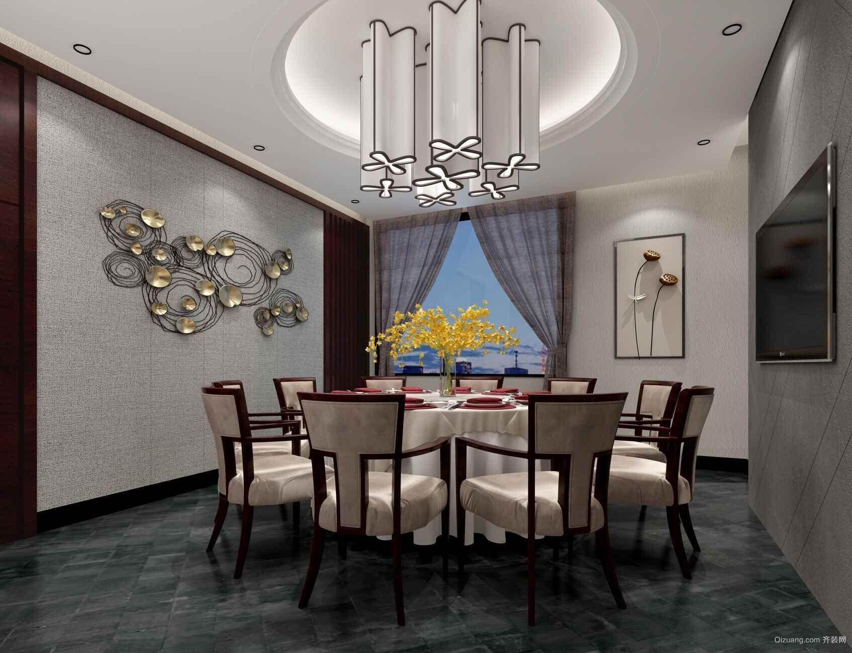 宴遇湘菜主题餐厅混搭风格装修效果图实景图