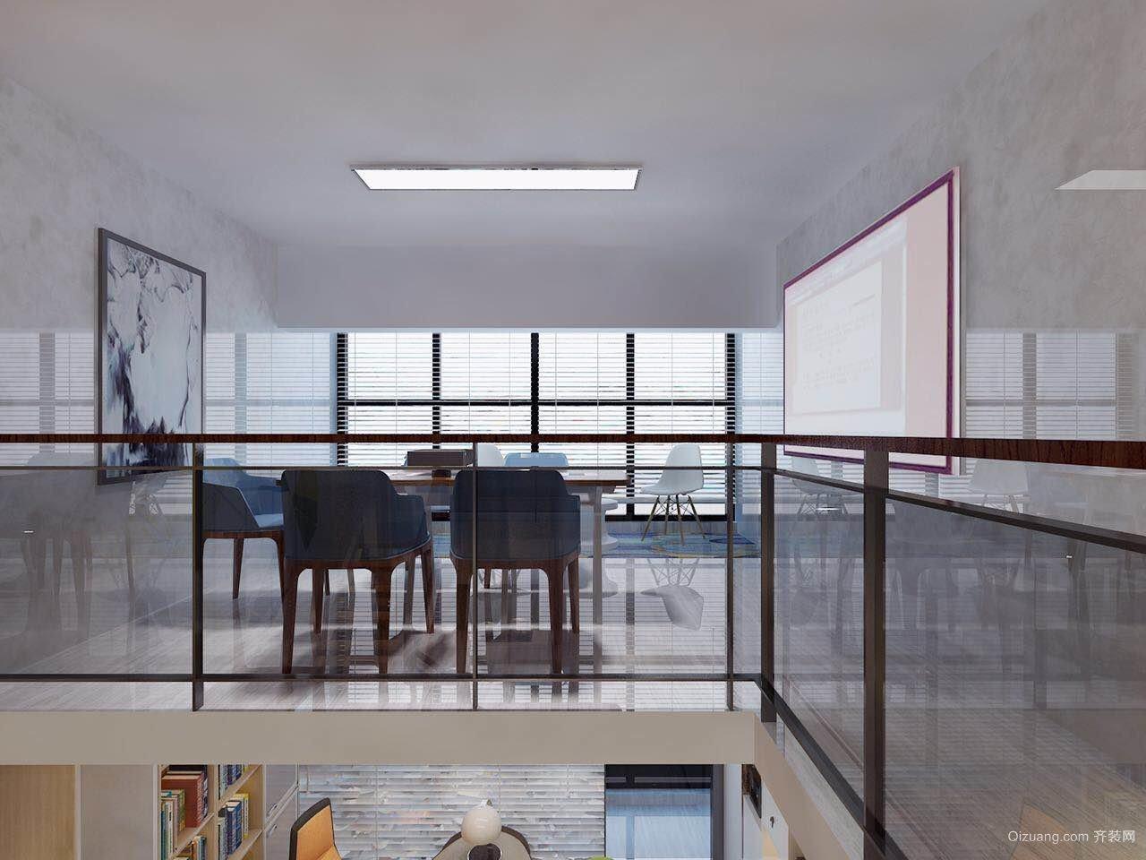 敏捷城loft办公室现代简约装修效果图实景图